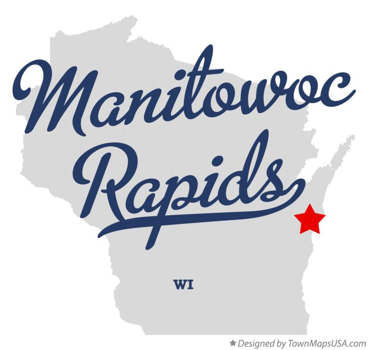 Map of Manitowoc Rapids Wisconsin WI