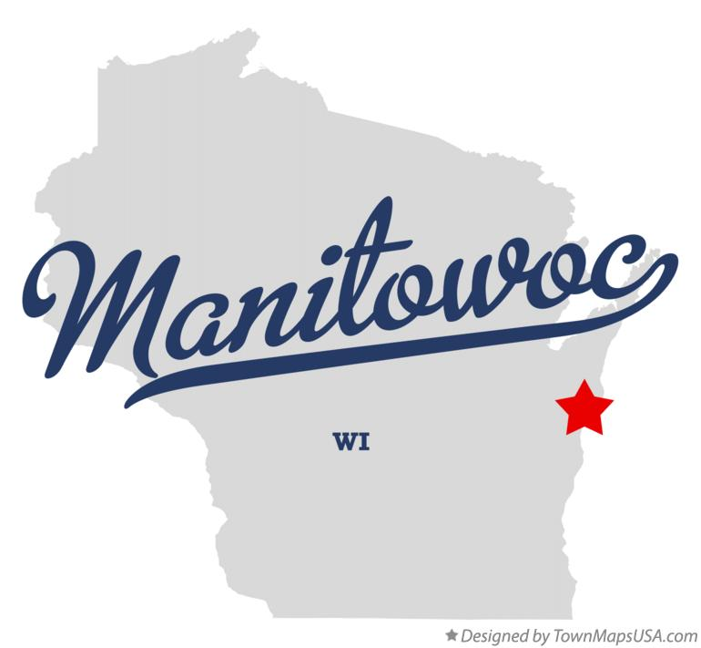 Map of Manitowoc Wisconsin WI