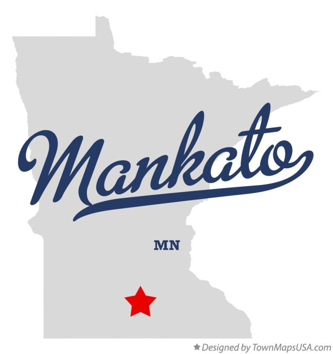 Map of Mankato Minnesota MN