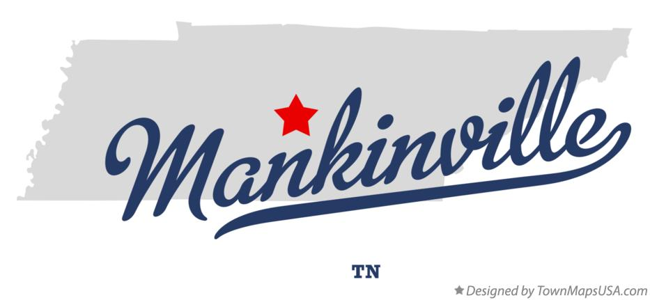 Map of Mankinville Tennessee TN