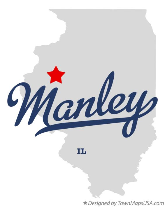 Map of Manley Illinois IL