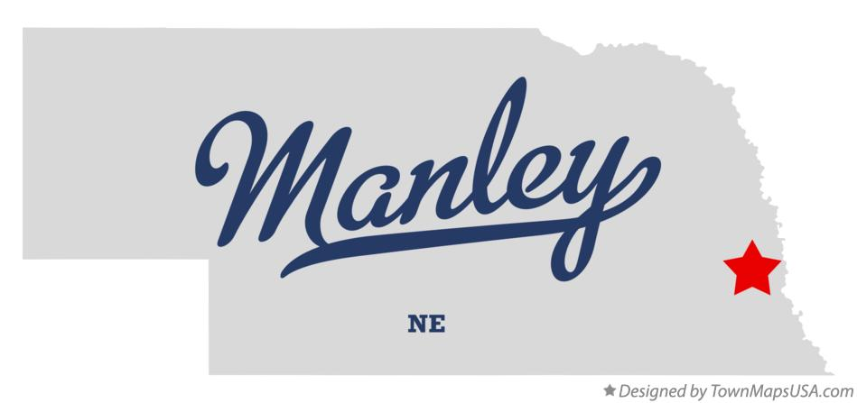 Map of Manley Nebraska NE