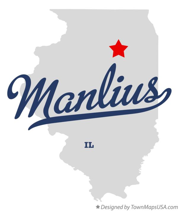 Map of Manlius Illinois IL