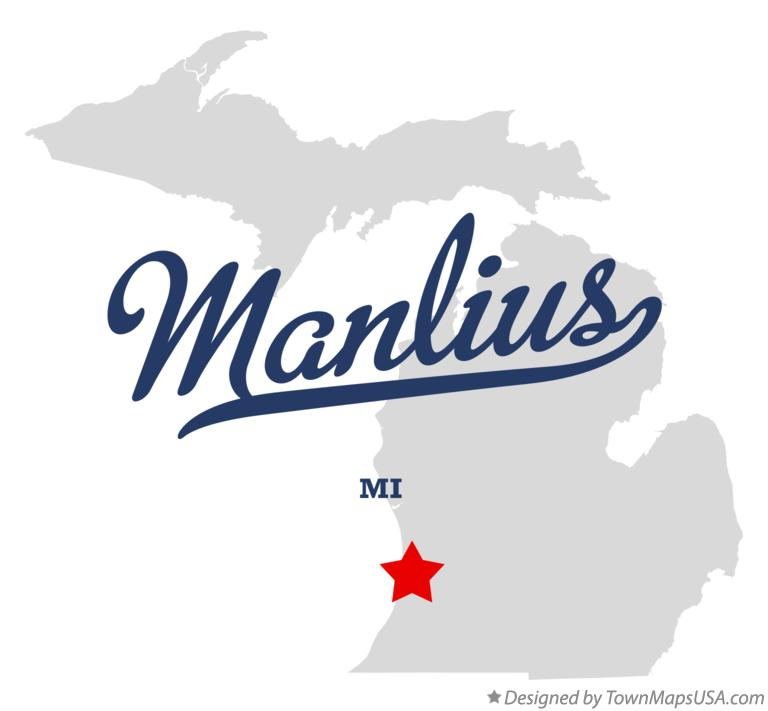 Map of Manlius Michigan MI