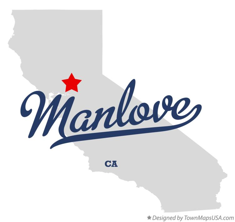 Map of Manlove California CA