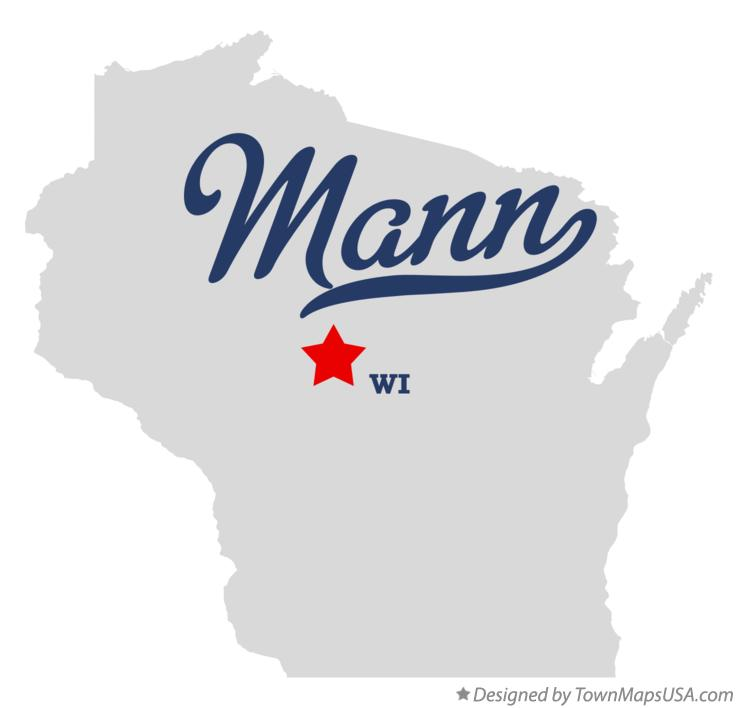 Map of Mann Wisconsin WI