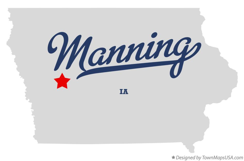 Map of Manning Iowa IA