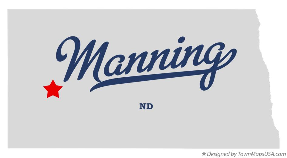 Map of Manning North Dakota ND