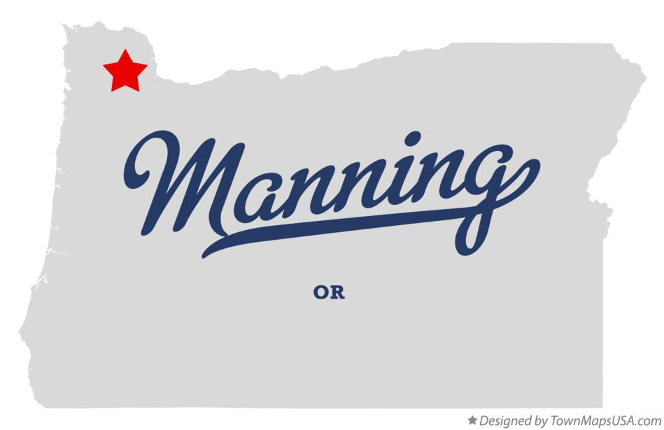 Map of Manning Oregon OR