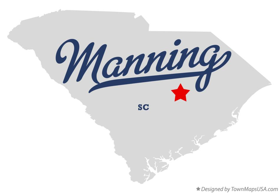 Map of Manning South Carolina SC