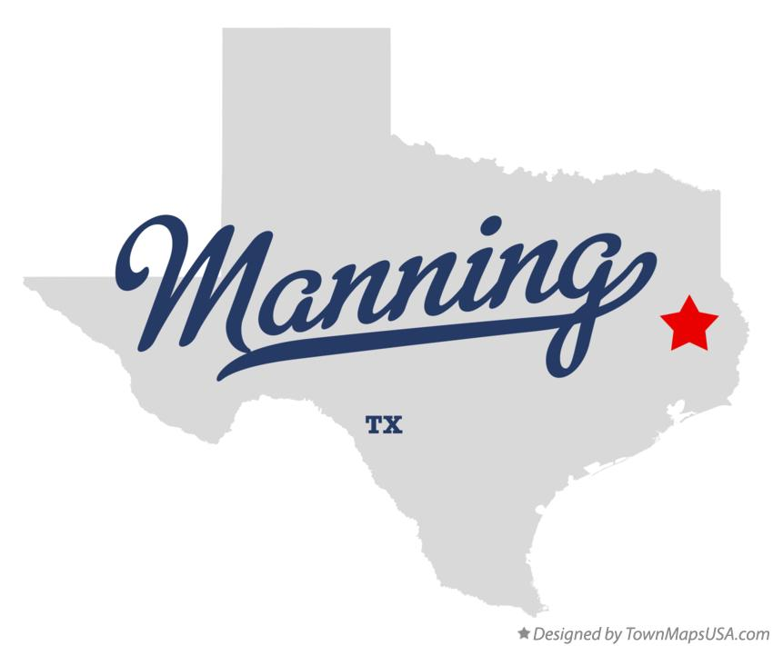 Map of Manning Texas TX
