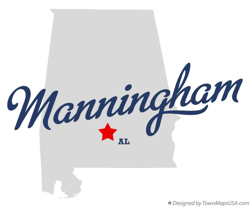 Map of Manningham Alabama AL