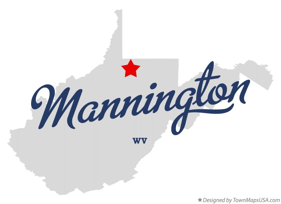 Map of Mannington West Virginia WV