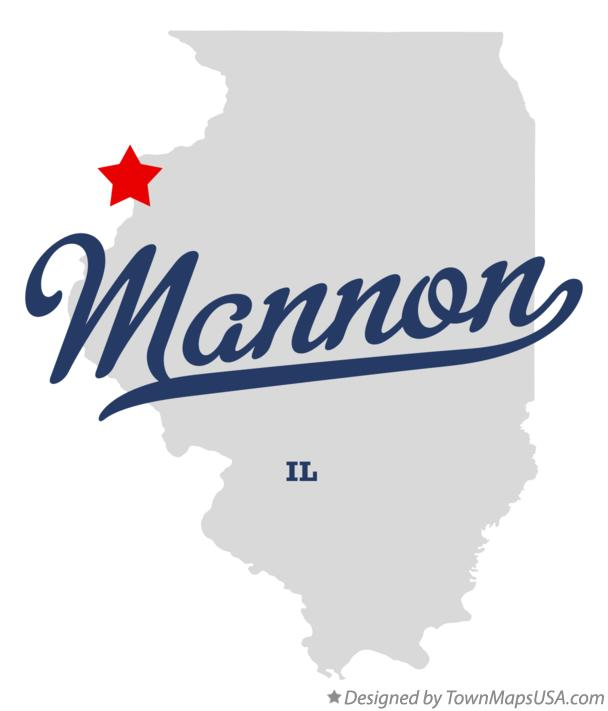 Map of Mannon Illinois IL