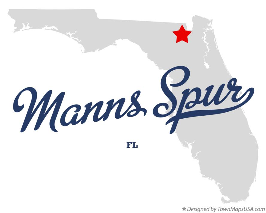 Map of Manns Spur Florida FL