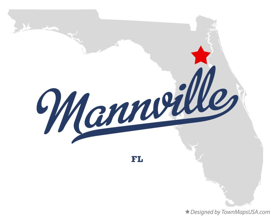 Map of Mannville Florida FL