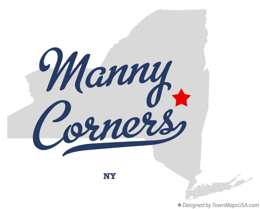 Map of Manny Corners New York NY