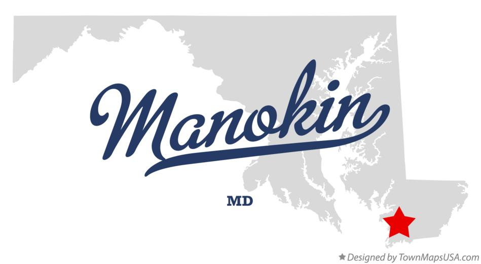 Map of Manokin Maryland MD