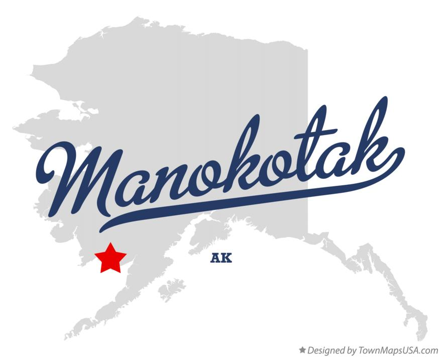 Map of Manokotak Alaska AK