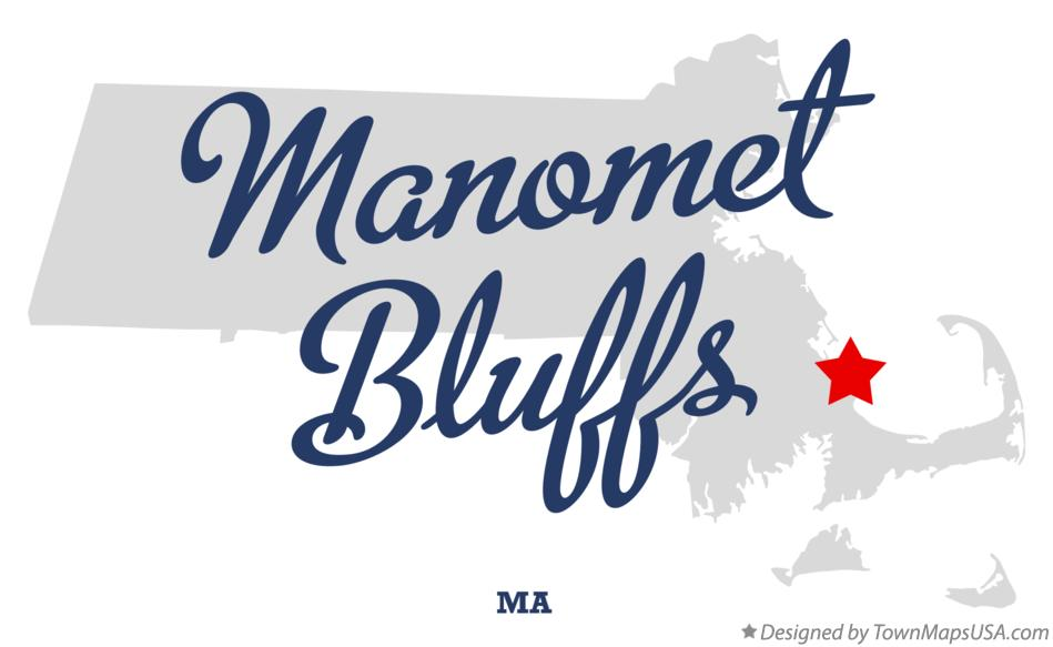 Map of Manomet Bluffs Massachusetts MA