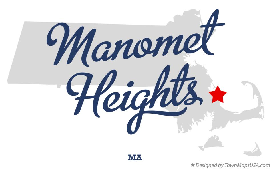 Map of Manomet Heights Massachusetts MA