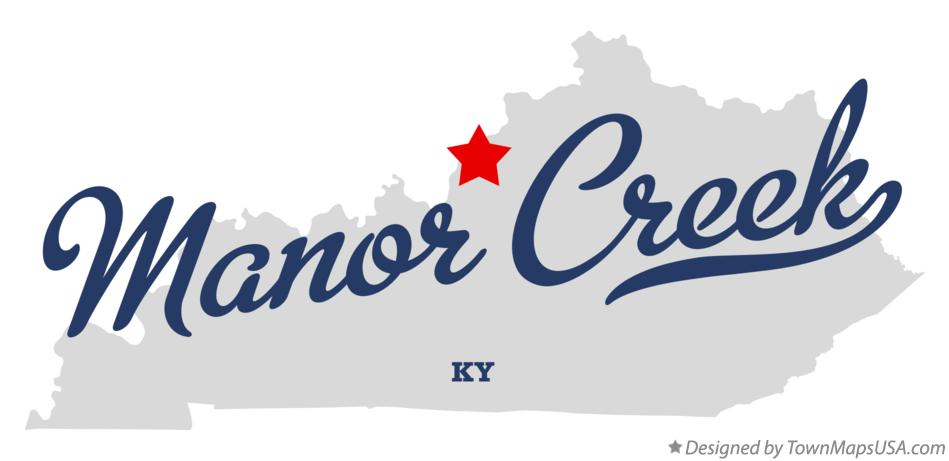 Map of Manor Creek Kentucky KY