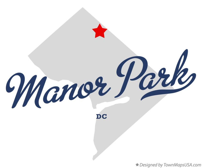 Map of Manor Park District Of Columbia DC