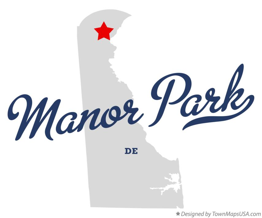 Map of Manor Park Delaware DE