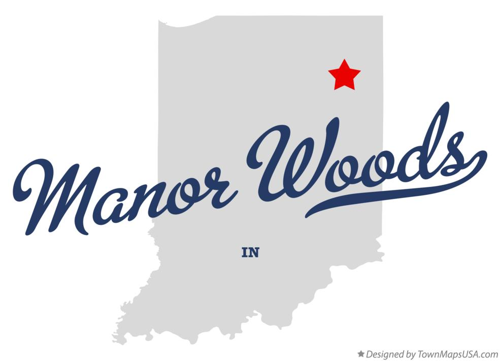 Map of Manor Woods Indiana IN