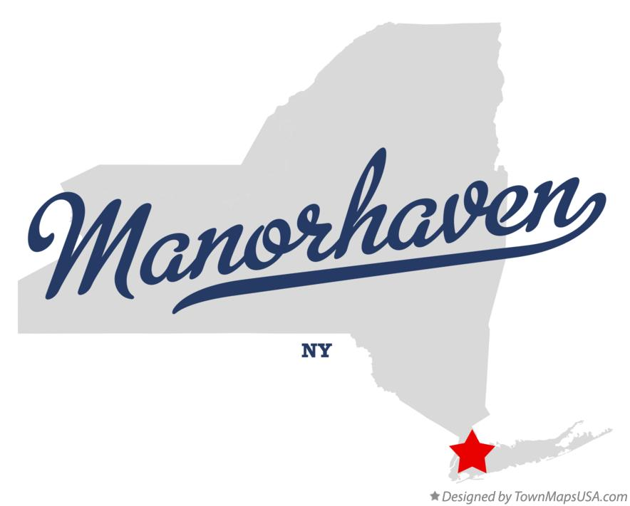Map of Manorhaven New York NY