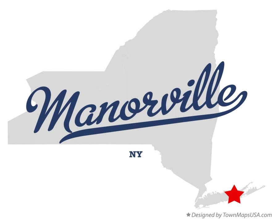 Map of Manorville New York NY