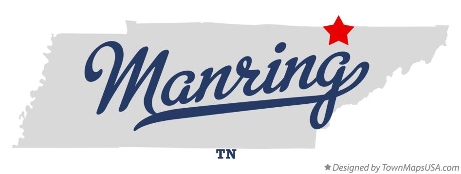 Map of Manring Tennessee TN