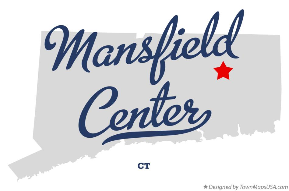 Map of Mansfield Center Connecticut CT