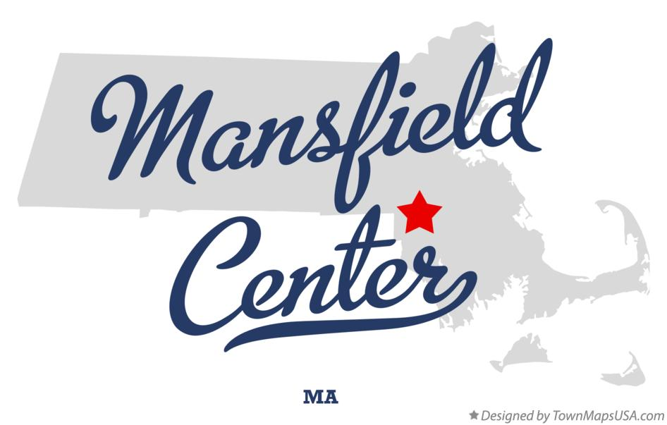 Map of Mansfield Center Massachusetts MA