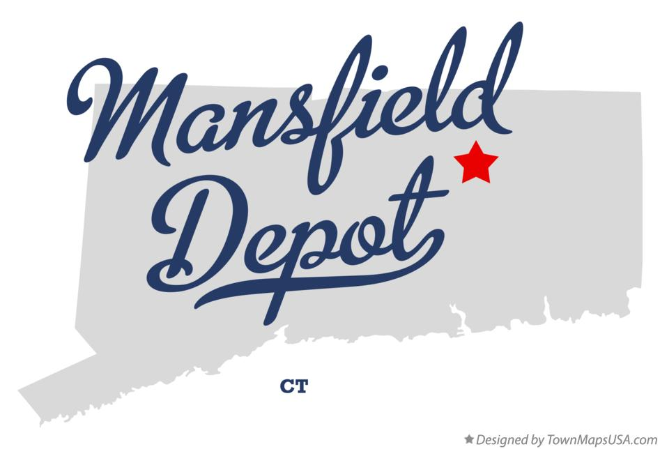 Map of Mansfield Depot Connecticut CT
