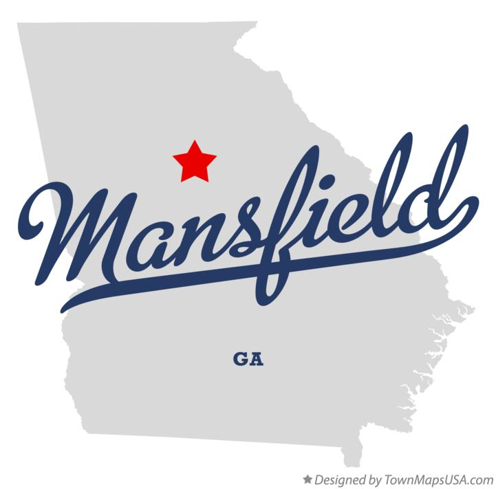 Map of Mansfield Georgia GA