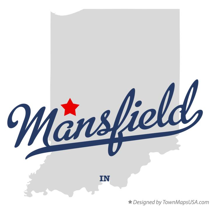 Map of Mansfield Indiana IN