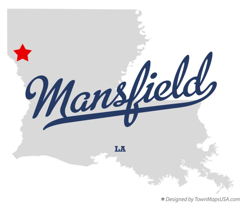 Map of Mansfield Louisiana LA