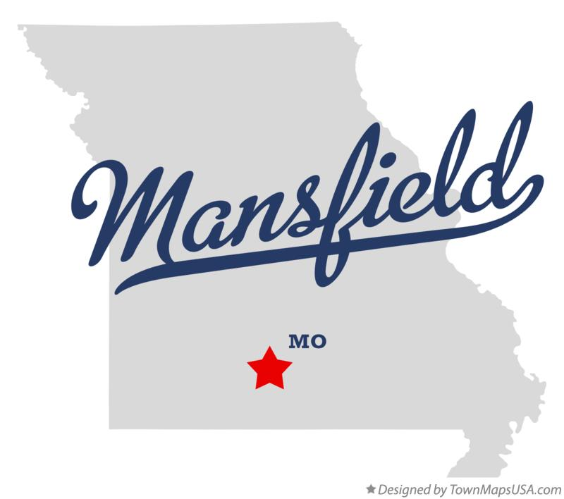 Map of Mansfield Missouri MO