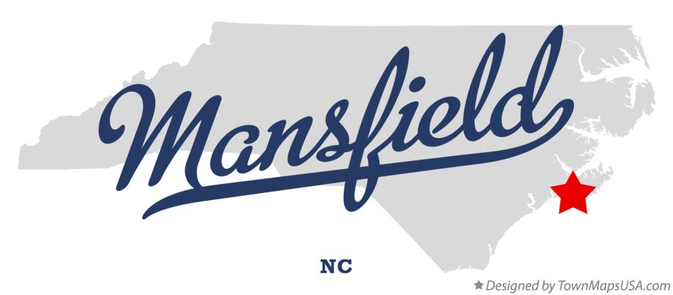 Map of Mansfield North Carolina NC