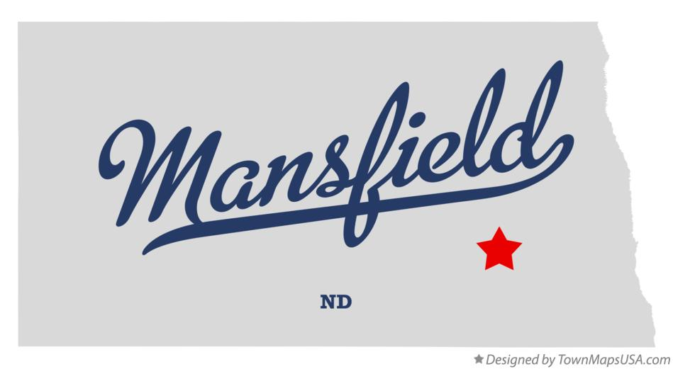 Map of Mansfield North Dakota ND