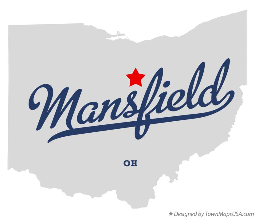 Map of Mansfield Ohio OH
