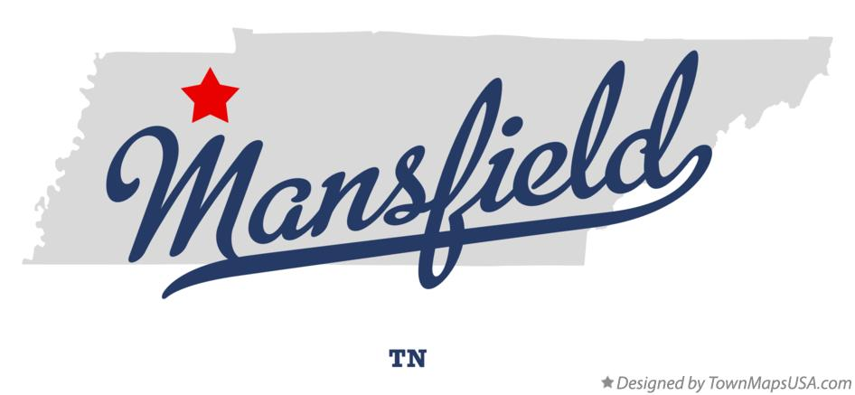 Map of Mansfield Tennessee TN