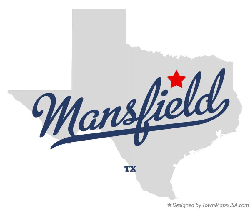 Map of Mansfield, TX, Texas Map Of Mansfield Tx on