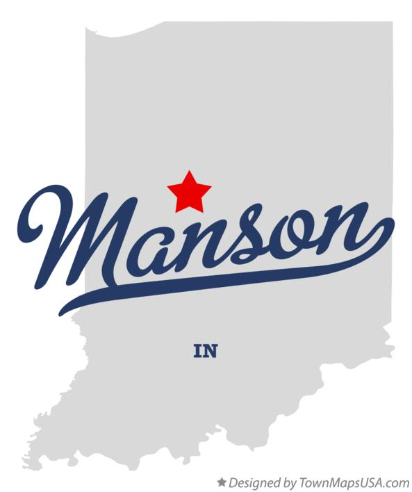 Map of Manson Indiana IN