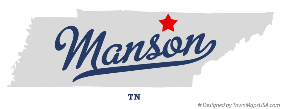 Map of Manson Tennessee TN