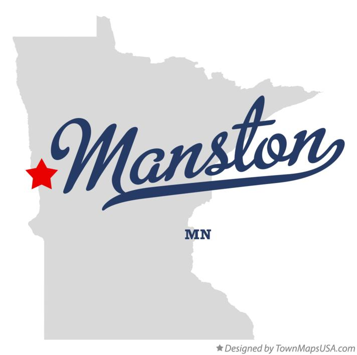Map of Manston Minnesota MN