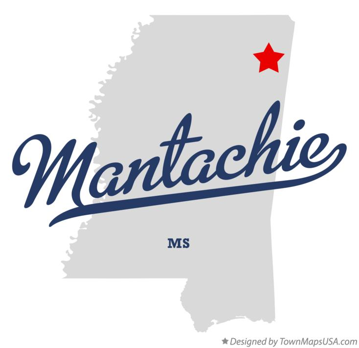 Map of Mantachie Mississippi MS