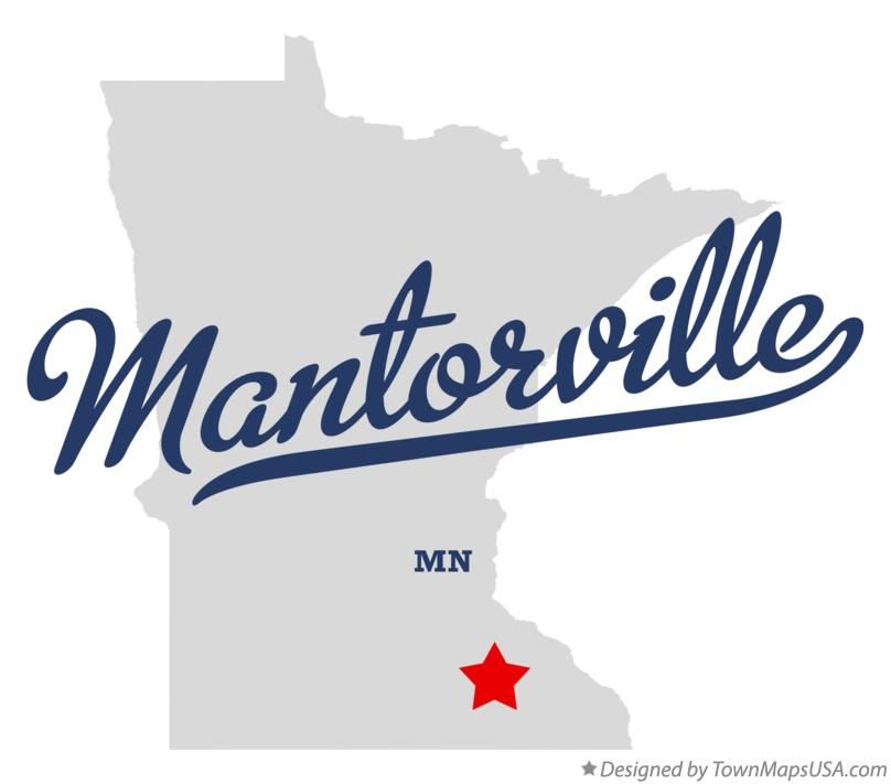 Map of Mantorville Minnesota MN