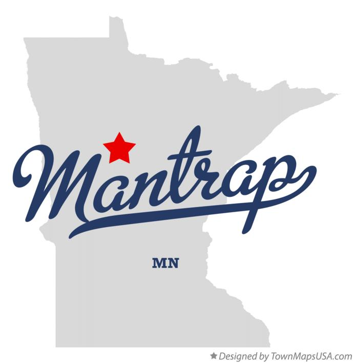 Map of Mantrap Minnesota MN